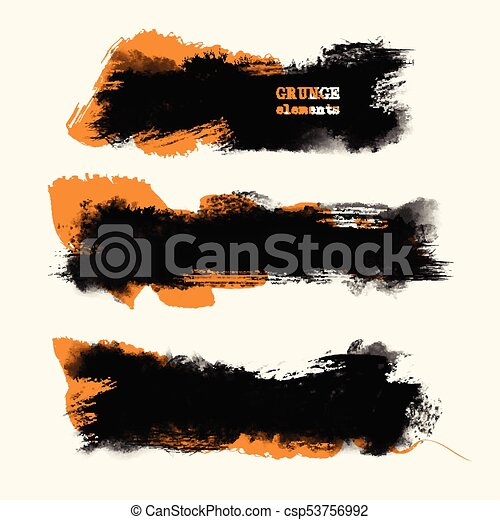 Vector grunge brushes