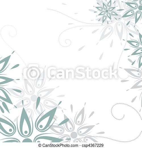 Vector grunge floral background - csp4367229