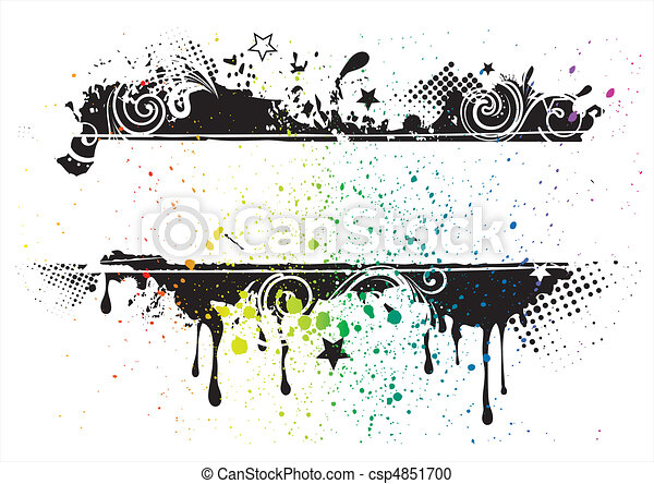 vector grunge ink background - csp4851700