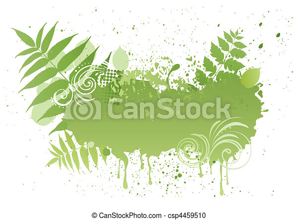 vector grunge nature leaf - csp4459510