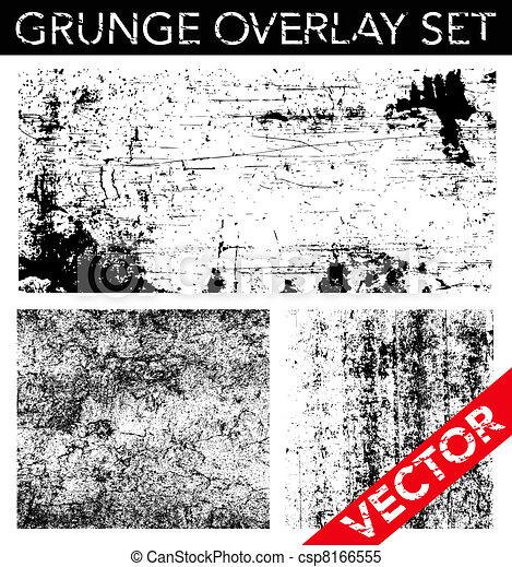 Vector Grunge Overlay Set - csp8166555