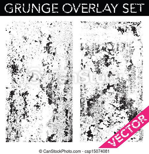 Vector Grunge Overlay Set - csp15074081