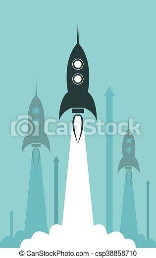 Lanzamiento de cohetes del grupo Vector - csp38858710