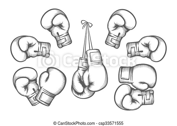 vector guantes boxeo protección mano boxeo ilustración