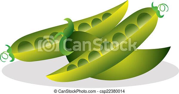Ilustración de vectores de guisantes. - csp22380014