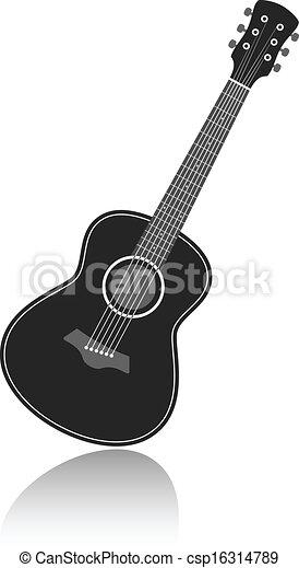 vector guitar - csp16314789