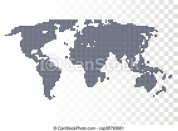 Vector halftone world map continents for your design eps vector halftone world map continents for your design gumiabroncs Image collections