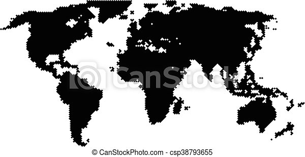 Vector halftone world map continents for your design eps vector halftone world map continents for your design gumiabroncs Gallery