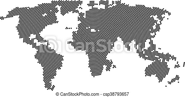 Vector halftone world map continents for your design eps clipart vector halftone world map continents for your design gumiabroncs Images