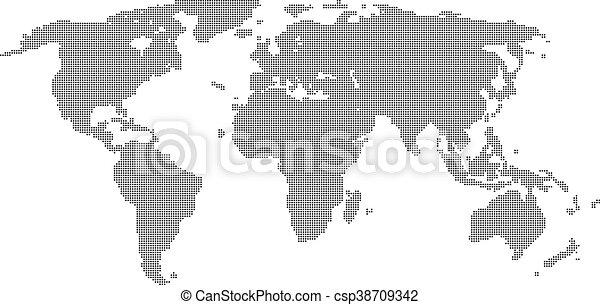 Vector halftone world map continents for your design eps eps vector halftone world map continents for your design gumiabroncs Image collections