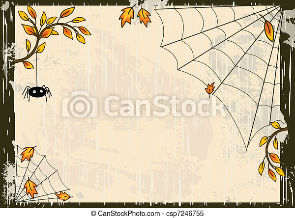 Vector Halloween background - csp7246755