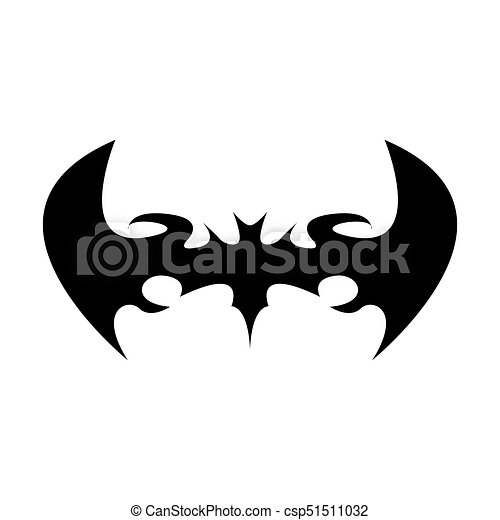 vector halloween black bat animal icon or sign isolated on rh canstockphoto com