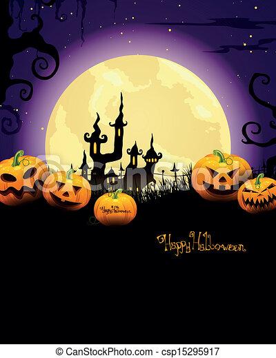 Vector Halloween antecedentes - csp15295917