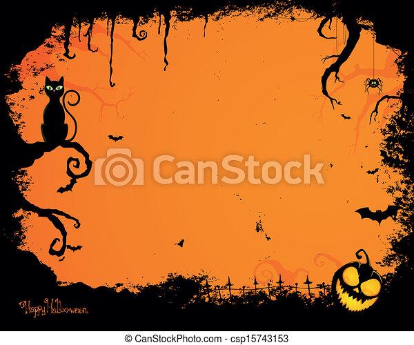Vector Halloween antecedentes - csp15743153