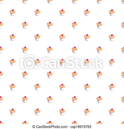 Vector hand drawn cake wallpaper - csp18919763