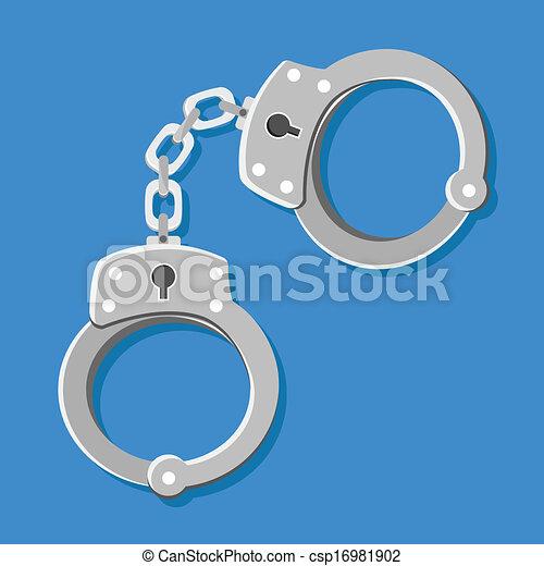 Vector Handcuffs Icons  - csp16981902