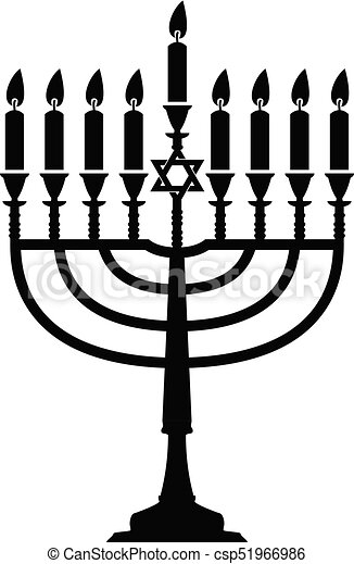 vector hanukkah menorah isolated on white background jewish rh canstockphoto com menorah clipart black and white menorah candles clipart