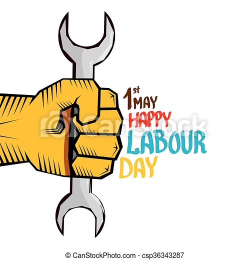 1 may labour day vector happy labour day poster or vector rh canstockphoto com may day clipart free may day 2017 clipart
