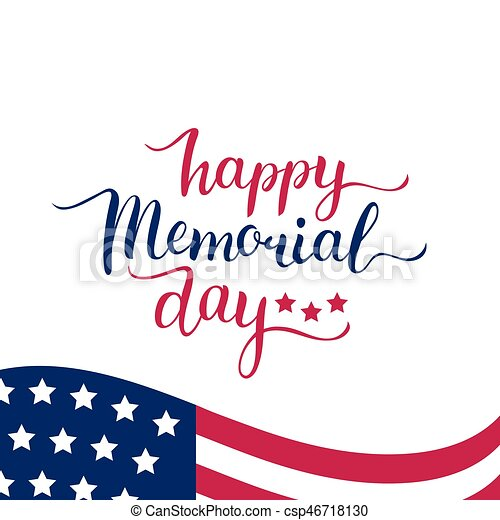 vector happy memorial day card national american holiday vectors rh canstockphoto com memorial day clip art images memorial day clipart and quotes for church