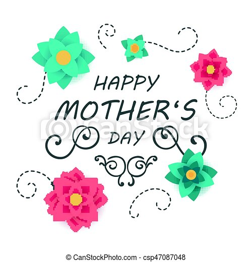 Vector happy mothers day greeting card design vector illustration vector happy mothers day greeting card design m4hsunfo