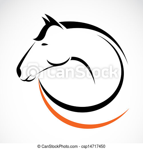 Vector head of horse - csp14717450