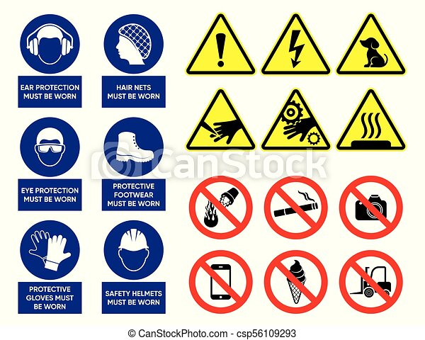 Vector health and safety signs - csp56109293
