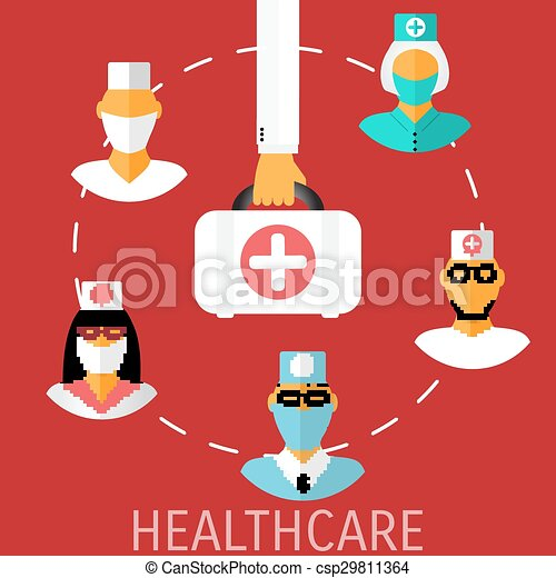 Vector Healthcare Medical Flat Background Eps 10