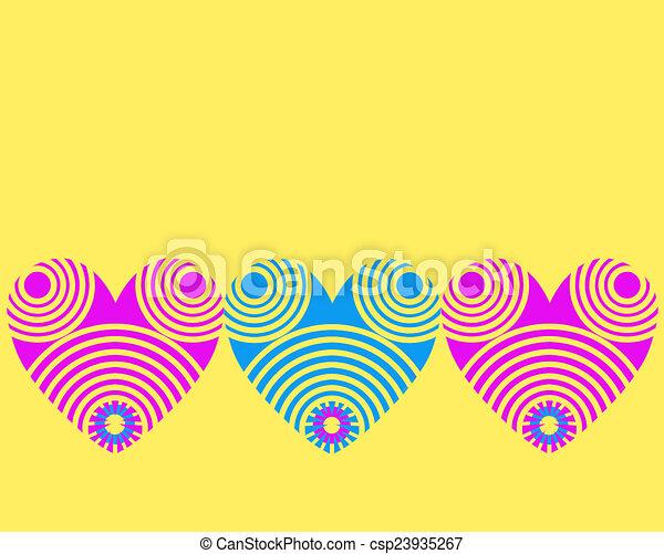 Vector heart design - csp23935267
