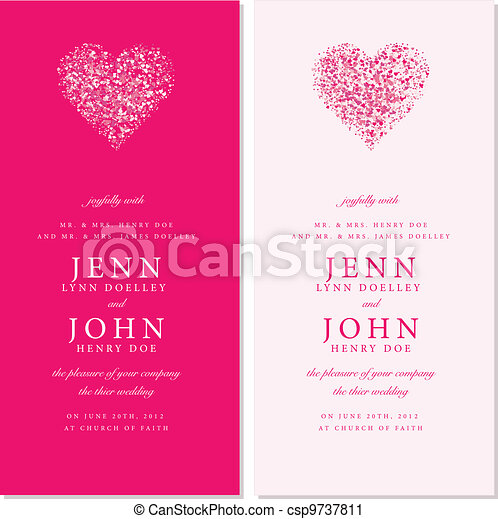 vector heart invitation frames easy to edit perfect for