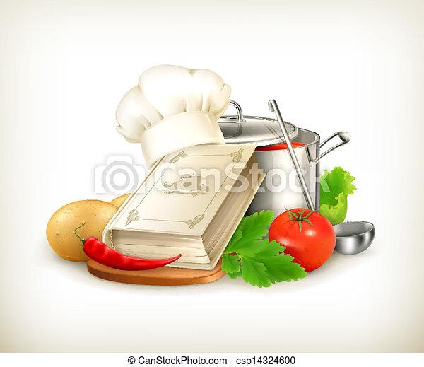 vector, het koken, illustratie - csp14324600