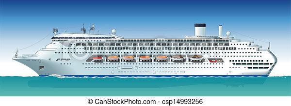 Vector Hidetailed Cruise Ship Hidetailed Cruise Ship - Cruise ship drawings