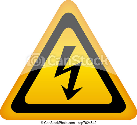 Vector high voltage sign - csp7024842
