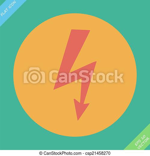 vector high voltage sign - csp21458270