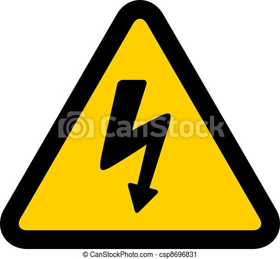 vector high voltage sign - csp8696831