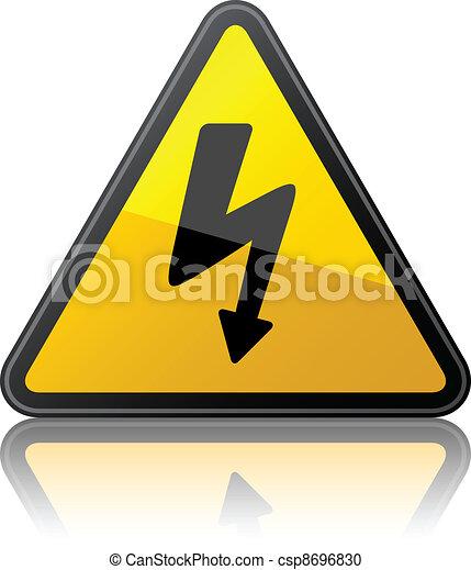 vector high voltage sign - csp8696830