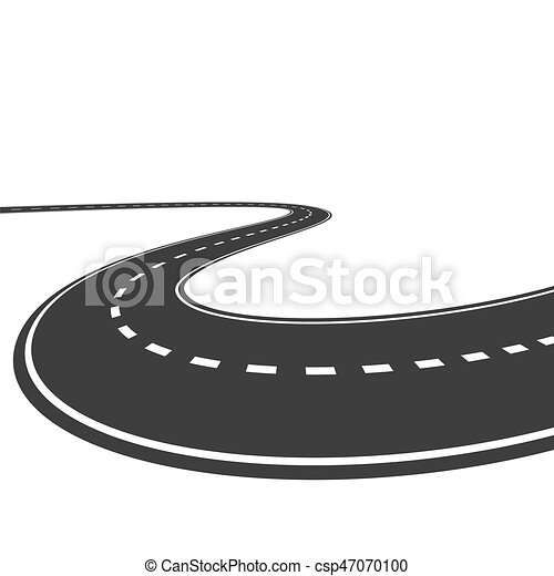 Vector highway isolated on a white background - csp47070100
