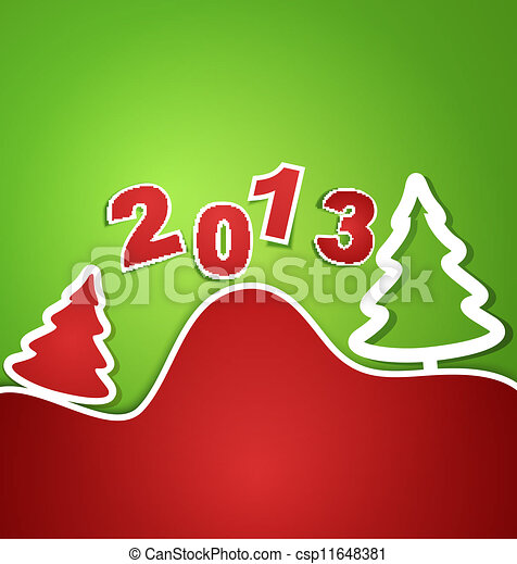 vector holiday new year 2013 background - csp11648381