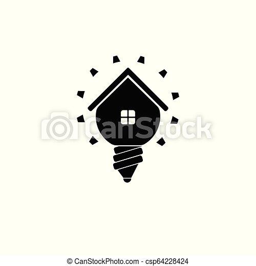 Vector Home Idea Creative Logo Design Template