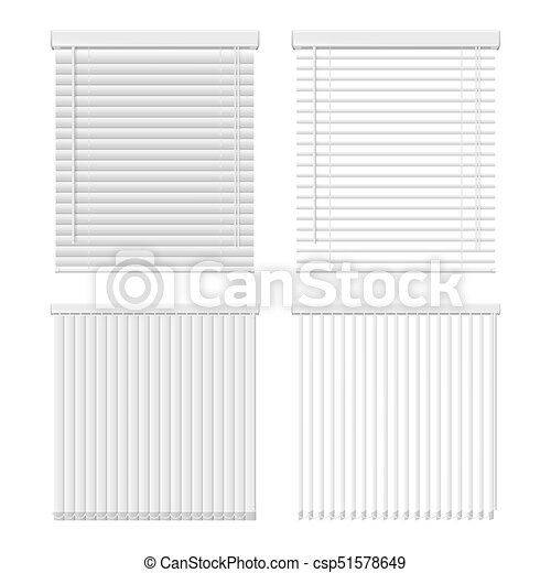 Vector Horizontal And Vertical Window Blinds Icon Set