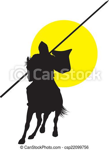 Vector horseman - csp22099756