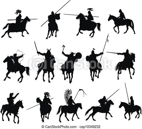 Vector horsemen set - csp10349232