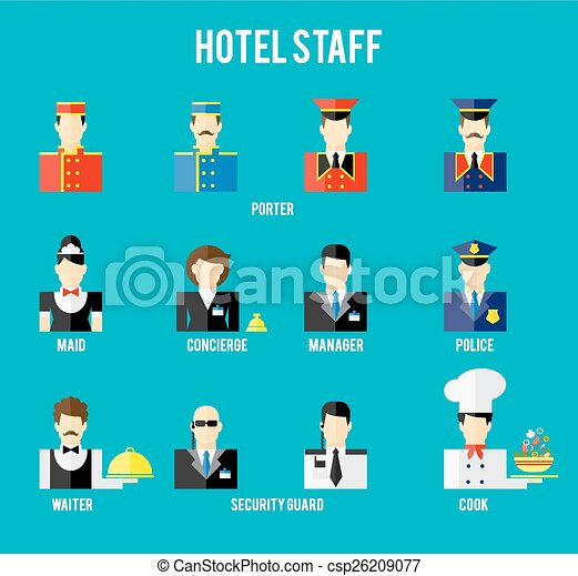Hotel Staff Stock Illustrations 1246 Clip Art Images And Royalty Free Available To Search From Thousands Of EPS Vector Clipart