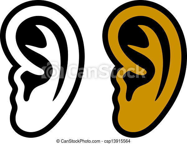 vector human ear symbols - csp13915564