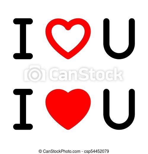 Vector I Love You Symbol