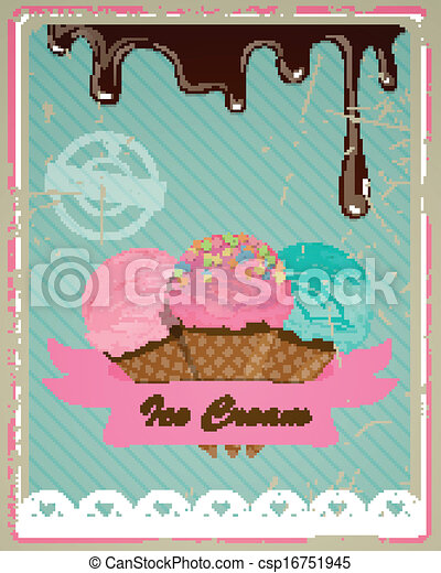 Vector Ice Cream Sign - csp16751945
