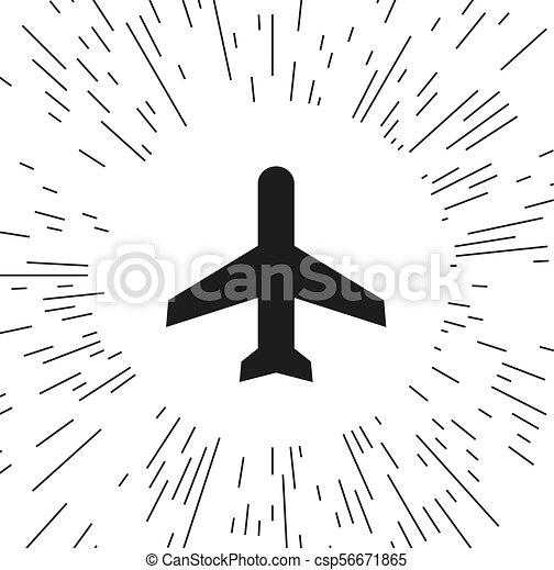 vector icon airplane - csp56671865