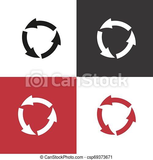 vector icon arrow circle - csp69373671