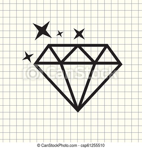 Vector icon diamond - csp61255510