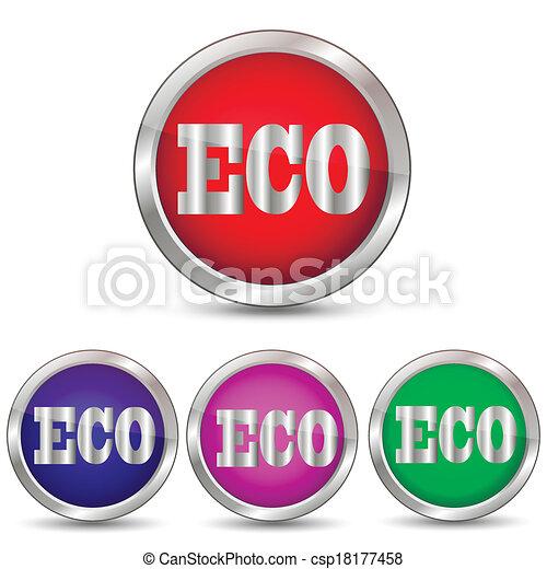 vector icon eco - csp18177458