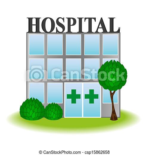 Vector icon hospital - csp15862658